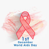 Concept of World Aids Day with awareness ribbon. Creative red ribbon of aids awareness on grungy background for 1st December, World Aids Day vector illustration