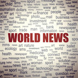Concept of world news Royalty Free Stock Photos