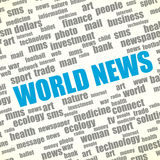 Concept of world news Royalty Free Stock Images