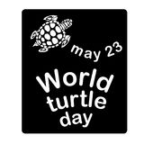 Concept on the World Turtles Day, May 23. Vector Stock Images
