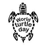 Concept on the World Turtles Day, May 23. Vector Royalty Free Stock Photography