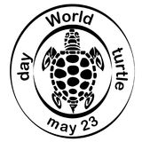 Concept on the World Turtles Day, May 23. Vector Stock Photo
