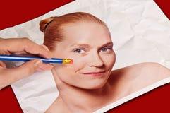 Concept Wrinkle Eraser Royalty Free Stock Image