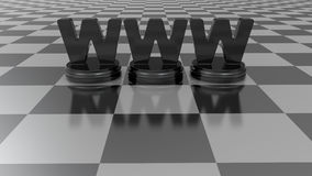 Concept WWW Royalty-vrije Stock Foto's