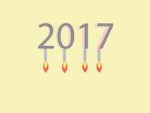 Concept of year 2017 Stock Photo