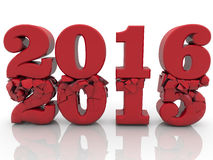 Concept with 2015 and 2016 years Stock Photo