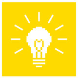 Concept yellow lamp illustration Royalty Free Stock Photos