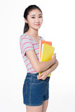 Concept for young student girl Stock Photos