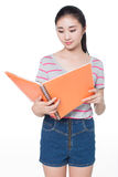 Concept for young student girl Stock Photography