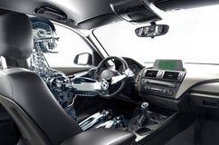Concept zelf-drijft auto royalty-vrije stock foto
