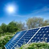 Concept zonnepaneel Stock Foto's