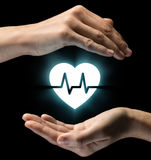 Concept zorg van gezondheid en medische behandeling stock foto's