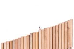 Concepten abstracte achtergrond van potloden Stock Afbeeldingen