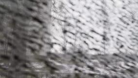 Concepten Gestreepte gestreepte achtergrond, monotone functie, de herfst in stad stock footage