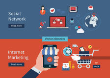Concepten media marketing royalty-vrije illustratie