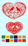 Concepten vectorkaart met tekst Malplaatje voor kaart van de ontwerp de romantische groet, huwelijksuitnodiging, de achtergrond v Royalty-vrije Stock Foto
