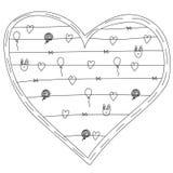 Concepten vectorkaart met tekst Malplaatje voor kaart van de ontwerp de romantische groet, huwelijksuitnodiging, de achtergrond v Royalty-vrije Stock Afbeeldingen