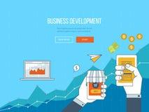 Concepten voor bedrijfsontwikkeling, groepswerk, financieel verslag en strategie Stock Fotografie