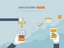 Concepten voor bedrijfsontwikkeling, groepswerk, financieel verslag en strategie Royalty-vrije Stock Fotografie