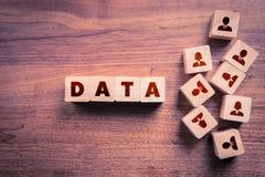 Concepten voor het exploiteren van gegevens en GDPR- royalty-vrije stock afbeeldingen