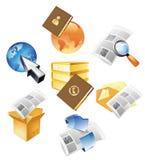 Concepten voor informatie en media Royalty-vrije Stock Fotografie