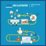 Concepten voor mobiele marketing die, online winkelen Bedrijfsbescherming Royalty-vrije Stock Foto's
