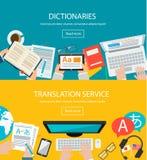 Concepten voor vreemde taalvertaling Royalty-vrije Stock Afbeeldingen