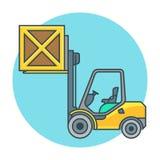 Concepten vorkheftruck-vrachtwagen Royalty-vrije Illustratie