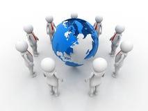 Conceptenbeeld die netwerk, voorzien van een netwerk, verbinding, sociale netwerken, mededelingen, Leider, Leidingsconcept verteg Stock Afbeelding