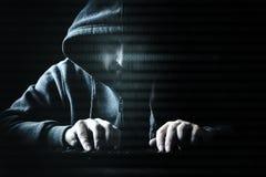 Conceptenhakker en Internet-misdaad stock afbeeldingen