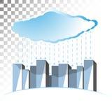 Conceptenillustratie op het thema van wolkenopslag stock foto's