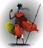 Conceptenkunst op traditionele Afrikaanse stammen wordt gebaseerd die stock illustratie