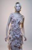Conceptenportret van vreemde vrouw stock afbeeldingen