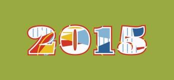 2015 Conceptenword Art Illustration royalty-vrije illustratie