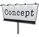 Conceptenword het Idee van het Aanplakbordteken het Delen adverteert vector illustratie
