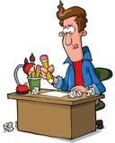 Concepteur à la table illustration de vecteur
