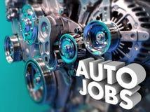 Concepteur automatique Engineer de voiture d'ingénierie de carrière des travaux illustration stock