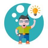 Concepteur avec une ampoule Photos stock