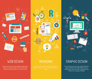 Concepteur Banner Set illustration libre de droits