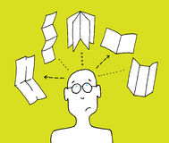 Concepteur choisissant le format d'impression Illustration de Vecteur