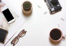 Concepteur de lieu de travail, créatif, concept de The de journaliste d'un bon Image libre de droits