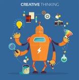 Concepteur de robot - pensée créative Photos stock