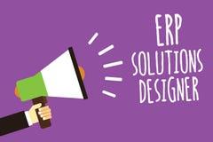 Concepteur de solutions d'ERP des textes d'écriture de Word Concept d'affaires pour le haut-parleur sain possible modularisé et r illustration libre de droits