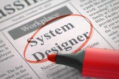 Concepteur de systèmes Job Vacancy 3d Photographie stock libre de droits