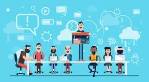 Concepteur Team Working Workplace de Web d'hommes d'affaires illustration de vecteur