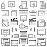 Concepteur Website Icons Illustration de Vecteur