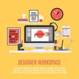 Concepteur Workspace Illustration Photo libre de droits