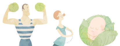 Conceptie en baby planning vector illustratie