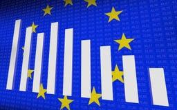 Conceptie van de EU-economie vector illustratie