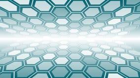 Conceptie van het nieuwe technologie de hexagonale behang royalty-vrije illustratie